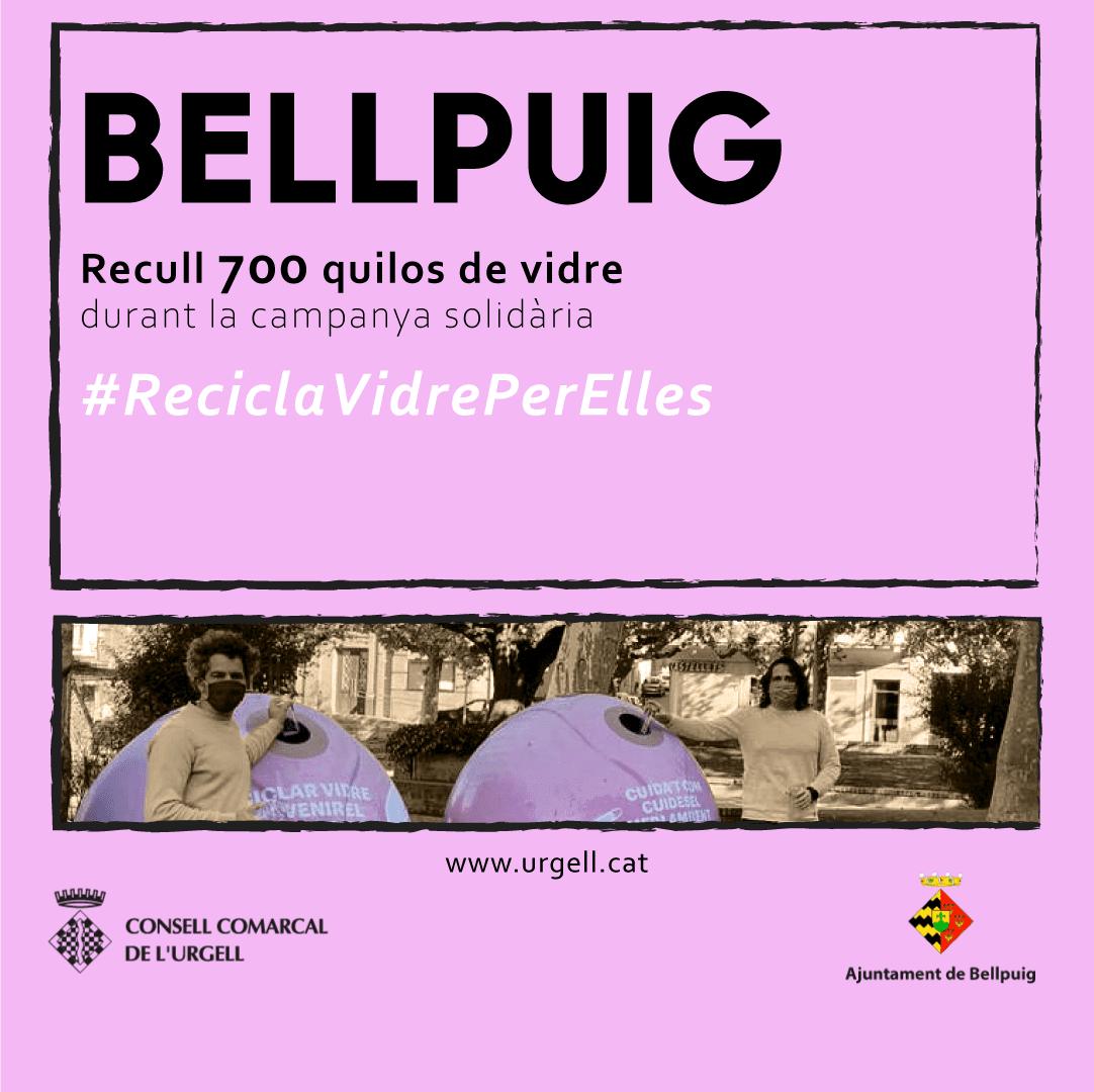 Acaba la campanya #ReciclaVidreperElles a Bellpuig