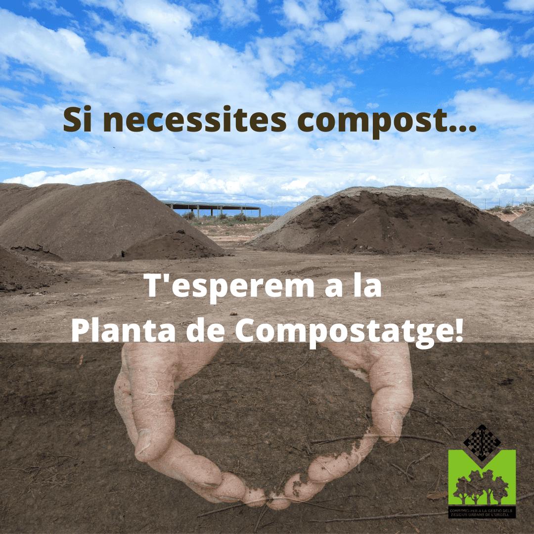 La planta de compostatge de l'Urgell va vendre 852 tones de compost durant el 2020