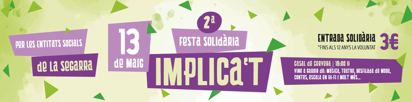 2a Festa Solidària per les entitats socials de la Segarra