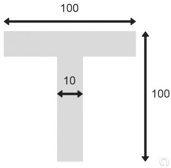 """Perfil """"T"""" EN10055 - 1"""