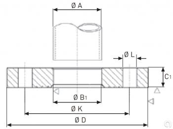 Brida plana ISO - 2