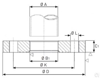Brida plana milimetrico - 2