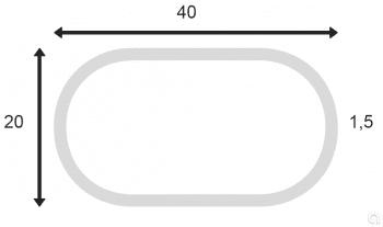 Tubo Ovalado Soldado