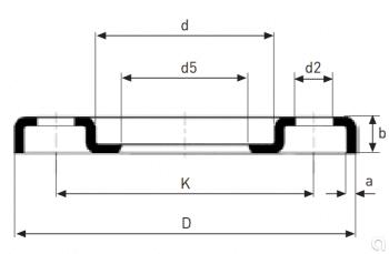 Brida prensada ISO DIN2642 - 2