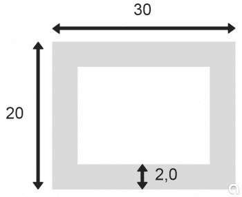 Tubo Rectangular Extr. 755-8