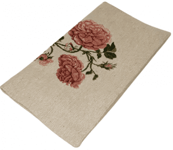 Funda cojín tejido flor rosa 45 x 45 - 1