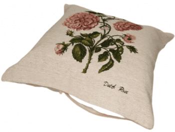 Funda cojín tejido flor rosa 45 x 45 - 2