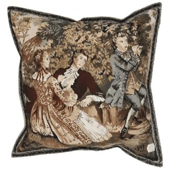 Funda cojín tapiz flauta 40 x 40