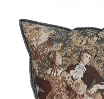 Funda cojín tapiz flauta 40 x 40 - 1