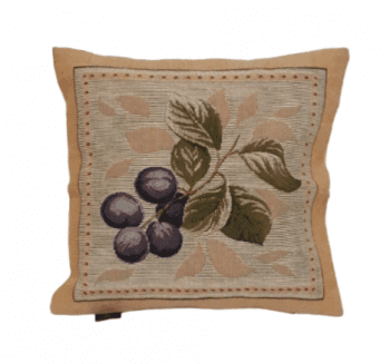 Funda cojín tapiz uvas 36 x 36