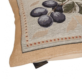 Funda cojín tapiz uvas 36 x 36 - 1