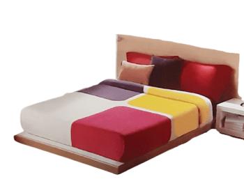 Manta terciopelo cuadros cama 135