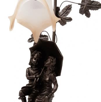 LÁMPARA MESA pareja paraguas - 1