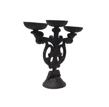 Candelabro hierro fundido - 2