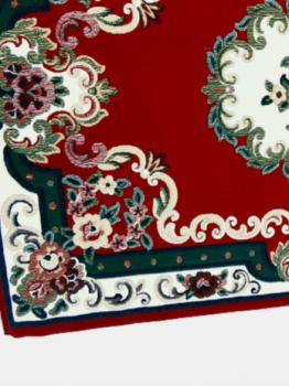 Alfombra roja rosetón - 1