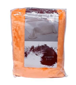 Manta terciopelo naranja 230 x 240
