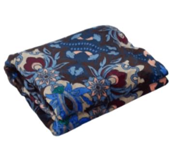 Manta sofá sedalina flores azul
