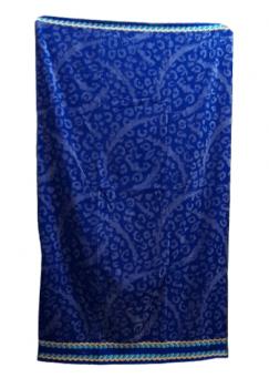 Toalla playa azul damasco 100 x 180
