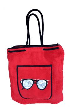 Toalla bolso playa rojo