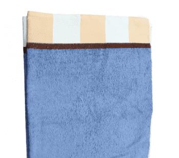 Toalla baño azul cenefa beige 100 x 150