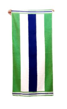 Toalla rayas verdes