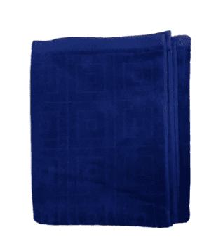 Toalla felpa azul marino