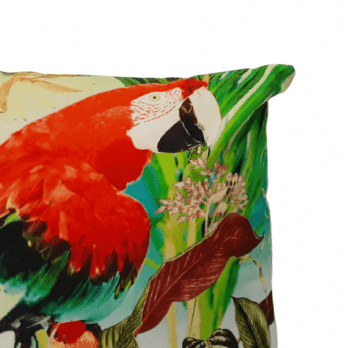 Cojín papagayo rojo 45 x 45 - 1