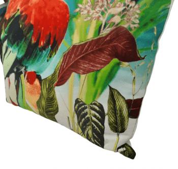 Cojín papagayo rojo 45 x 45 - 3