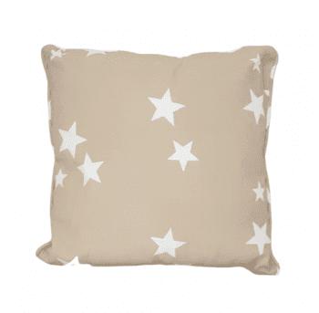 Cojines estrellas beige 40 x 40