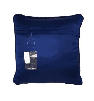 Cojin azul bordado oro 40 x 40 - 6