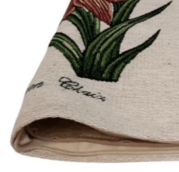 Funda cojín flores teja 45 x 45 - 3