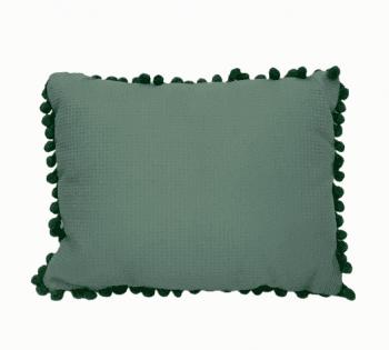 Cojín rectangular madroños verdes