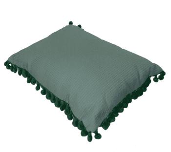 Cojín rectangular madroños verdes - 2