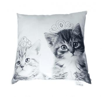 Cojines gatitos reyes 40 x 40