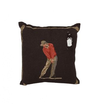 Cojín pata de gallo golf rojo 30 x 30
