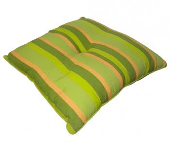 Cojines raya pistacho de 40 y 60 cm - 1
