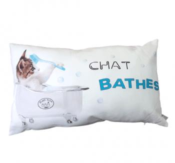 Cojin rectangular gato bañera 30 x 50