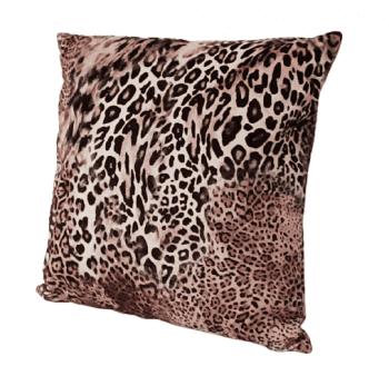 Cojín leopardo en terciopelo 45 x 45 - 1