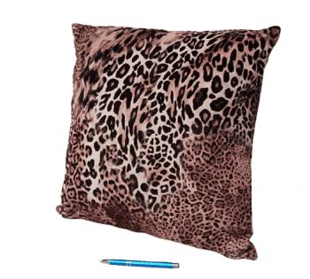 Cojín leopardo en terciopelo 45 x 45 - 3
