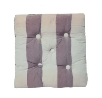 Cojines silla rayas lila 40 x 40 - 1