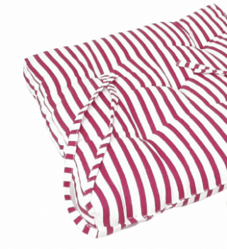 Cojines silla rayas frambuesa 40 x 40 - 2