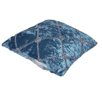 Cojines terciopelo azul plata - 1