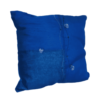 Cojines azul seda - 2