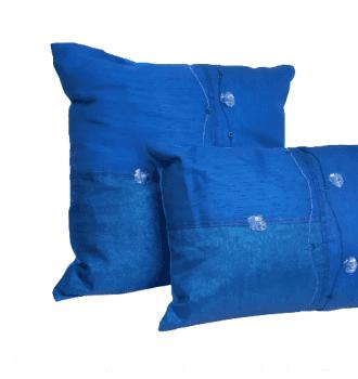Cojines azul seda - 3