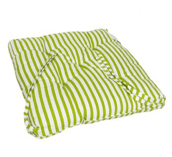 Cojines de silla rayas verdes 40 x 40