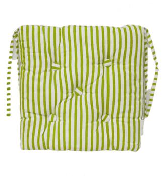 Cojines de silla rayas verdes 40 x 40 - 1