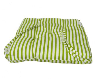 Cojines de silla rayas verdes 40 x 40 - 2