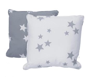 Cojines estrellas grises 40 x 40