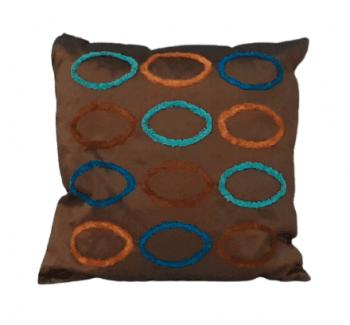 Cojines de seda óvalos chenilla 40 x 40 - 2