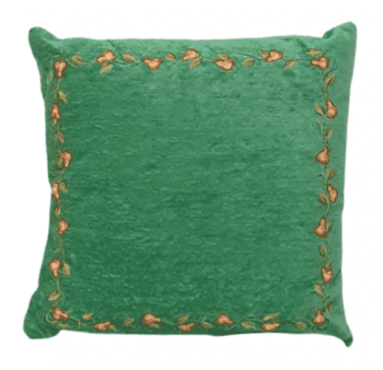 Cojines chenilla verde maceta 50 x 50 - 1